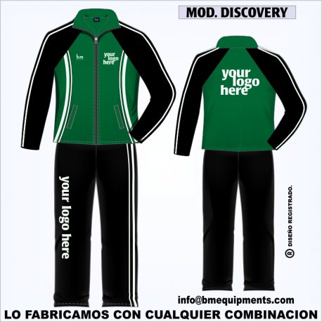 CHANDAL DISCOVERY NEGRO VERDE BOTELLA