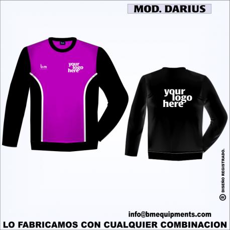 SUDADERA DARIUS MORADO NEGRO