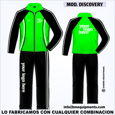 CHANDAL DISCOVERY VERDE NEGRO BLANCO