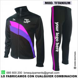 CHANDAL TITANIUM NEGRO - MORADO