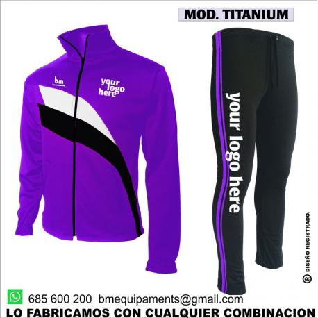 CHANDAL TITANIUM MORADO - NEGRO