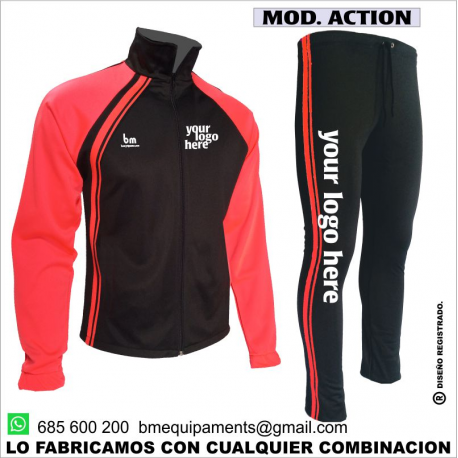 CHANDAL ACTION NEGRO - CORAL