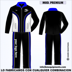 CHANDAL PREMIUM NEGRO BLANCO ROYAL