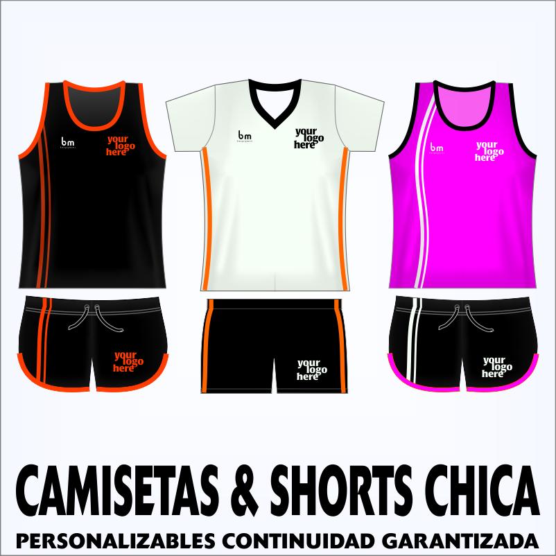 CAMISETAS & SHORTS CHICA